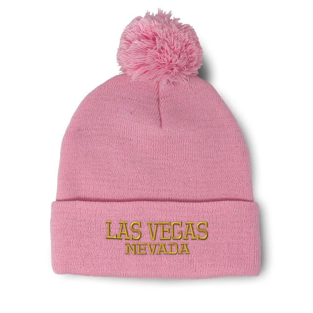 thumbnail 16 - Pom Pom Beanies for Women Nevada Las Vegas United States Embroidery Skull Cap