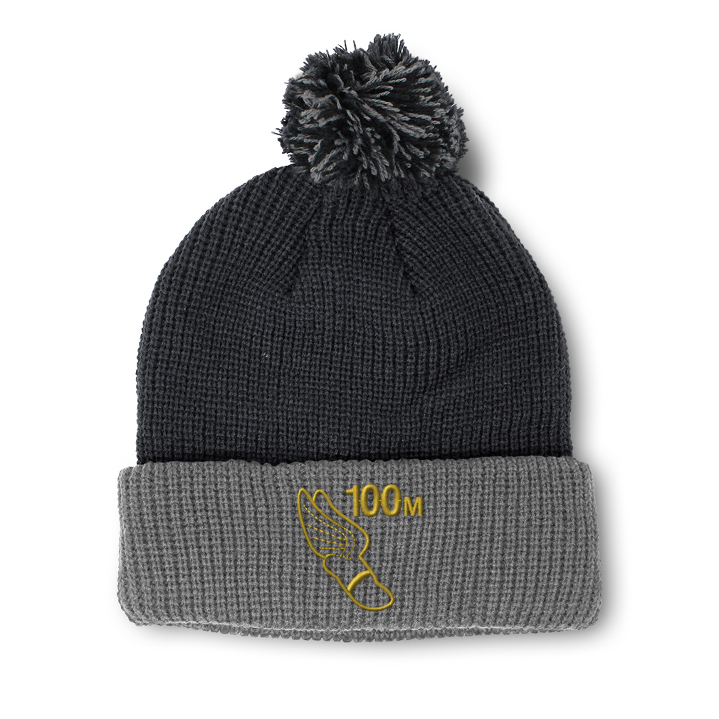 thumbnail 18 - Pom Pom Beanies for Women 100 Meters Race Gold Embroidery Acrylic Skull Cap
