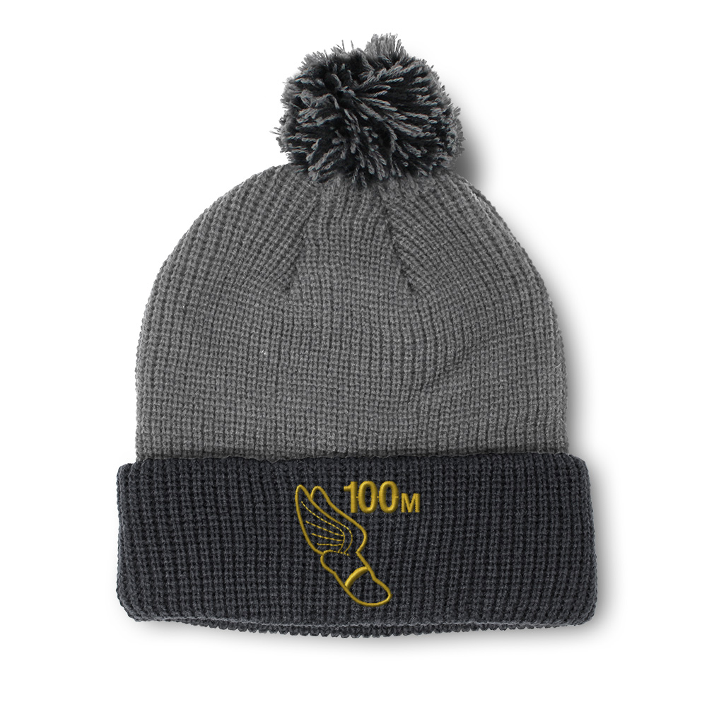 thumbnail 20 - Pom Pom Beanies for Women 100 Meters Race Gold Embroidery Acrylic Skull Cap