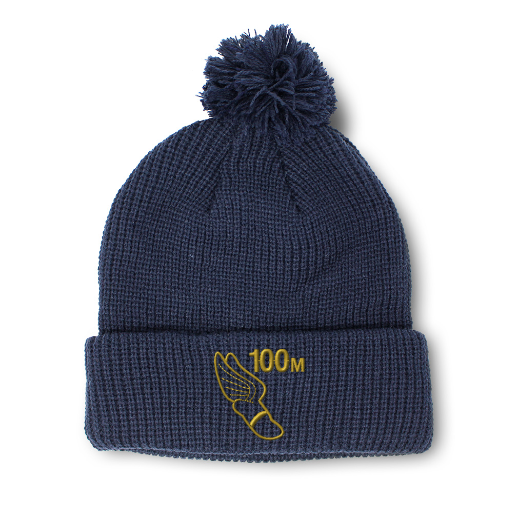 thumbnail 10 - Pom Pom Beanies for Women 100 Meters Race Gold Embroidery Acrylic Skull Cap