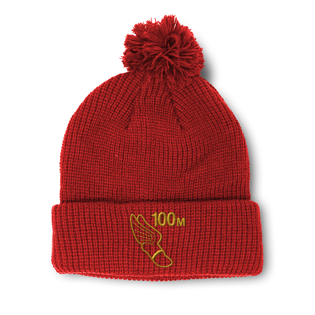 thumbnail 12 - Pom Pom Beanies for Women 100 Meters Race Gold Embroidery Acrylic Skull Cap